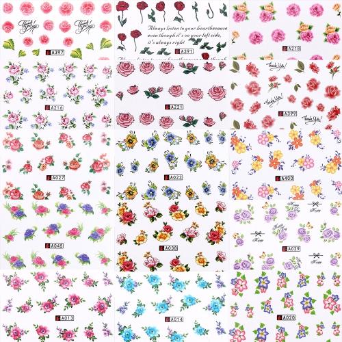 50 листов Набор наклейки для ногтей Смешанный шаблон для бабочки-бабочки для ногтей Бумажный наконечник Набор для наращивания ногтей Сделай сам маникюр с водяными знаками
