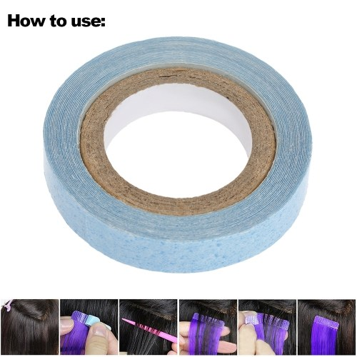 1 Roll 0.8cm 3yards Waterproof Hair Tape Double-sided Adhesive Glue For Hair Extension Toupee Lace Wigs