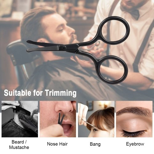 Beard Mustache Scissor Stainless Steel Eyebrow Nose Hair Shaver Trimmer Shear Mini Beauty Scissor W7739