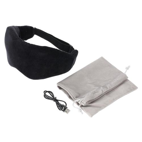 Inalámbrica Bluetooth 3.0 recargable dormir ojo máscara memoria espuma venda con Mic teléfono llamada respuesta música estéreo viaje dormir auriculares
