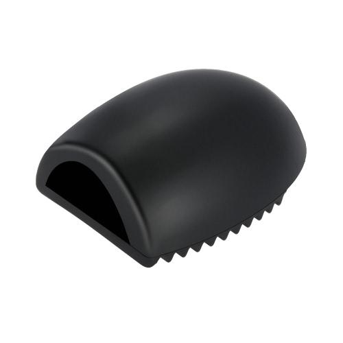 Палец перчатки составляют кисть Стиральная силикагель чистых скруббера Совет для косметические кисти очистки матовый черный