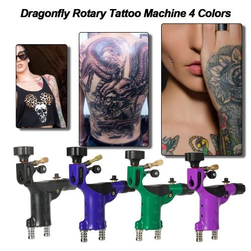 Машина Dragonfly Rotary татуировки 4 цвета татуировки мотора Shader & Liner Машина татуировки татуировки Body Art Black фото