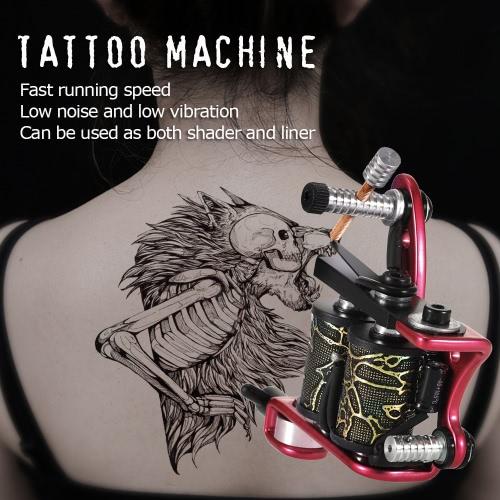Tattoo Machine Professional Tattoo Motor Tattooing Shader & Liner Machine Gun Body Tattoo Machine Black