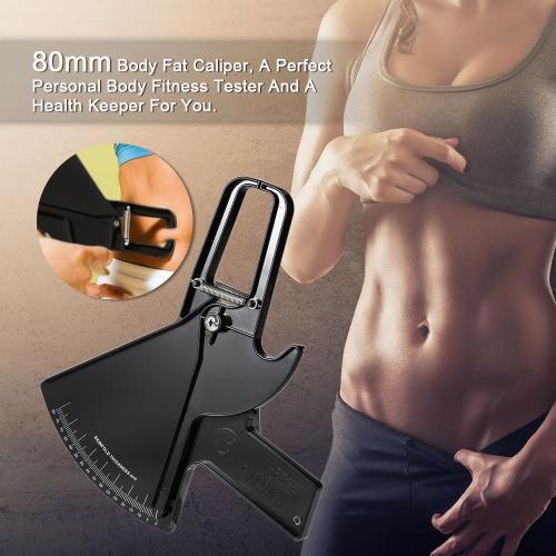 80ミリメートルボディファットキャリパースキンフォール測定ツールパーソナルボディフィットネステスター美容健康キーパー
