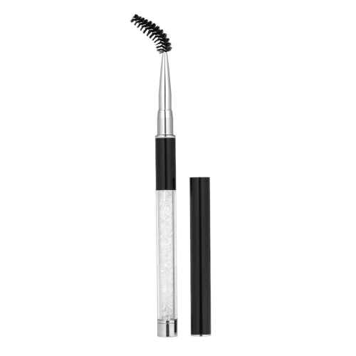 1 unid pestañas cepillo ceja peine rimel varita forma de la pestaña extensión de la belleza cosmética pinceles de maquillaje