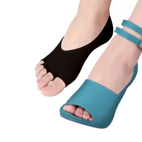 Носки с пятью носками Высокие каблуки и невидимые носки с открытым носком