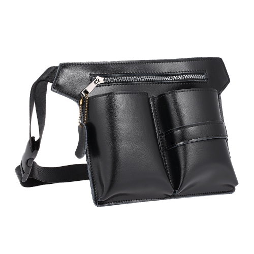 PU Leather Hair Scissor Holster Hairdressing Pouch Haircutting Tools Holder Bag para o cabeleireiro Cintura Shoulder Belt