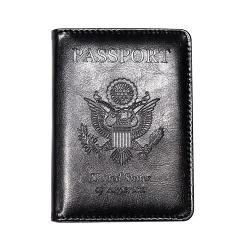 Protetor de titular de cartão de crédito de carteira de couro pu