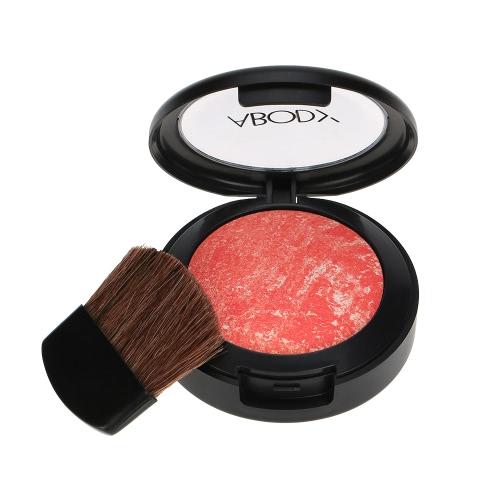 Leib Make-up, gemischte Farben Rouge Powder Palette kosmetische Rouge Puder, 3 Farben mit Spiegel Bürste Orange