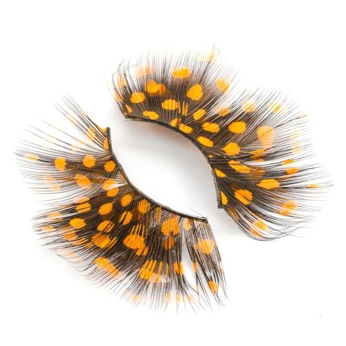Супер горячие женщины Необычные мягкие длинные перья Накладные ресницы Eye Lashes Makeup Party Club