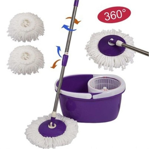 Spinning Magic Spin Mop Mikrofaser Rotierende Köpfe Mop Floor Swob 4 Farben Orange