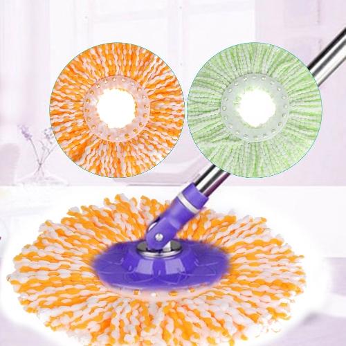 Спиннинг Magic Spin Mop Microfiber Вращающиеся головки Mop Floor Swob 4 Colors Green