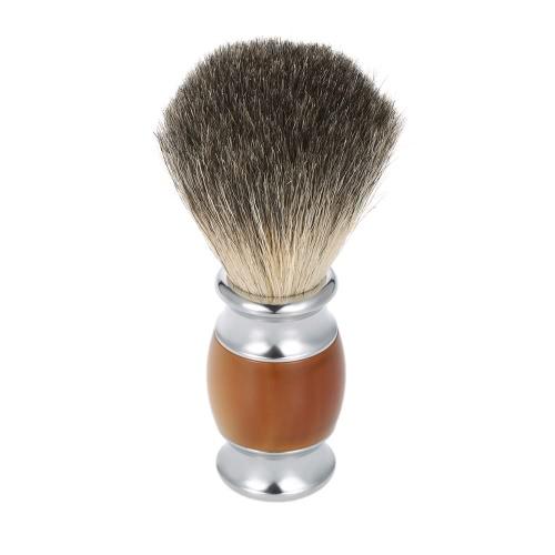 Conjunto de afeitar Hombres Blaireau brocha de afeitar Razor + 2 en 1 herramienta de afeitar pelo de tejón Seco y afeitado en húmedo con la caja marrón claro