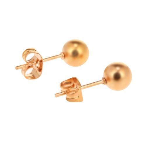 Boucles d'oreilles en acier inoxydable chirurgical à billes rondes en acier inoxydable, ensemble de 5 paires de tailles assorties pour hommes femmes