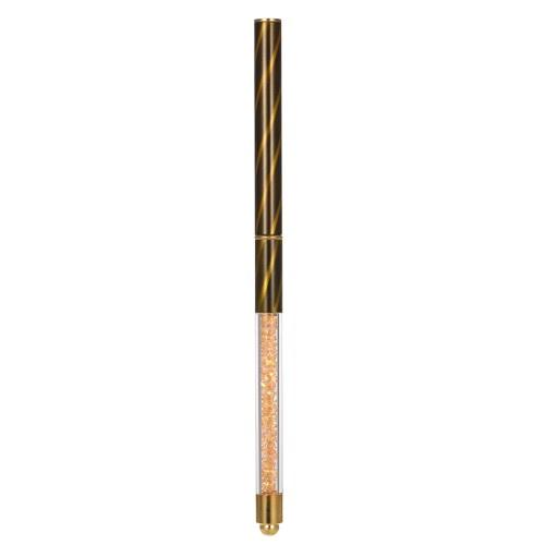 1pc Pintura Nail Art Pen Gel UV escova de cristal Acrílico Prego Desenho Liner prego DIY Flat Brush Nail Salon pena dourada