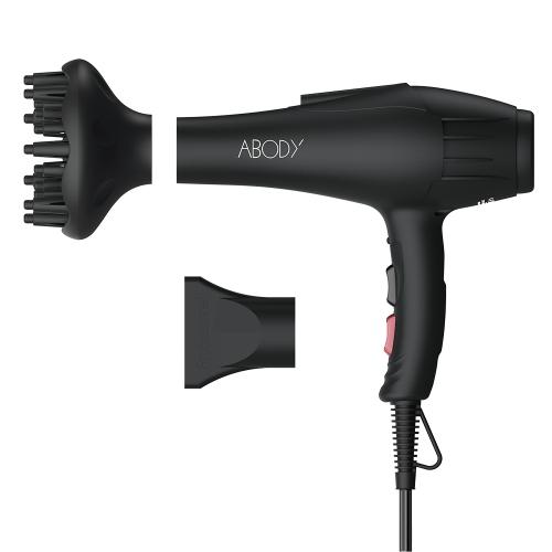 Abody Hair Dryer Hair Blow con boquilla y difusor de dedos para peluquería Salon Peluquería personal