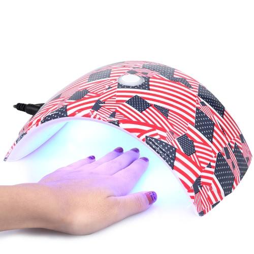 36W Светодиодная лампа для ногтей Ультрафиолетовая гвоздь для ногтей для ногтей для ногтей для ногтей и ногтей Гель для отверждения Инструмент для ногтей для маникюра белого света Опциональный штекер US / EU / UK / AU фото