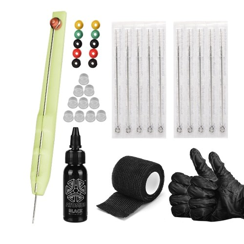 Tattoo Hand Poke Pen Needle Holder Tool Tattoo Kit