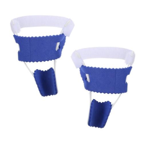 2Pcs verstellbare Nylon Fibula Bunion Nacht Splint Hammertoe Corrector Brace für große Zehen Gelenk Hallux Valgus Schmerzlinderung