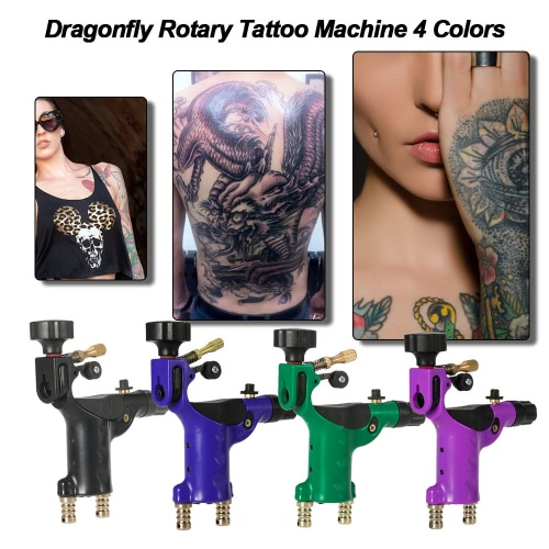 Dragonfly Rotary Tattoo Machine 4 Colors Tattoo Motor Shader & Liner Tattoo Machine Tattoo Body Art Purple, TOMTOP  - buy with discount