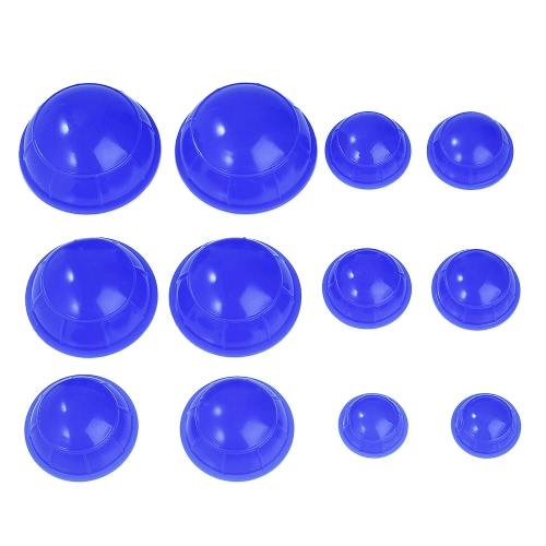 12pcs 5 mini silicón del masaje de la taza del cuerpo de la taza que ahueca el cuidado de absorción de la humedad de la taza