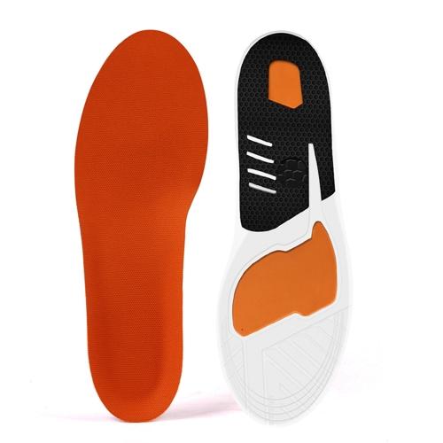 1 par de plantilla de la PU Shock Absorbing antideslizante zapatos plantilla de masaje Pad Sports Sneakers insertar cojín para hombres y mujeres