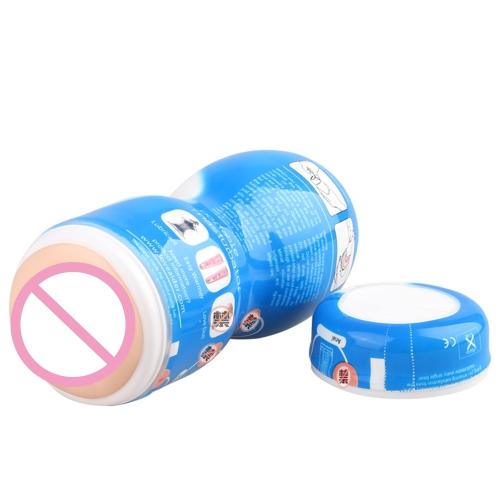 1pc Loveaider männlicher Masturbator manuelle Tasse (blau)