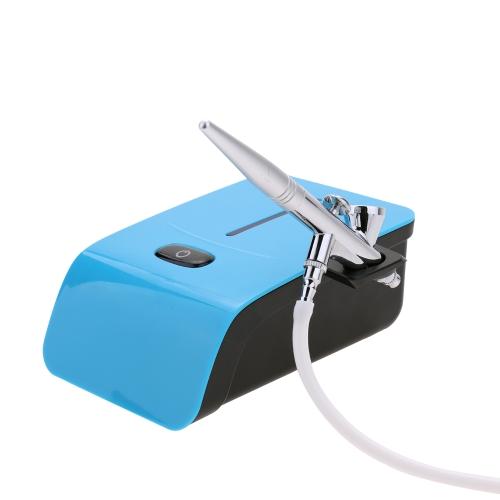 ポータブルエアブラシセット小さなスプレーポンプペンセットアートコントーンタトゥークラフトケーキスプレーモデル用エアコンプレッサーキット
