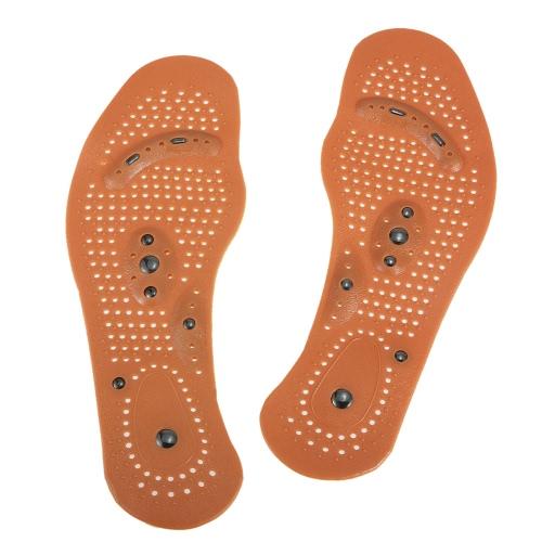 男性/女性のための1Pair磁気治療ヘルスケアフットマッサージインソール磁気靴パッドフットマッサージャー