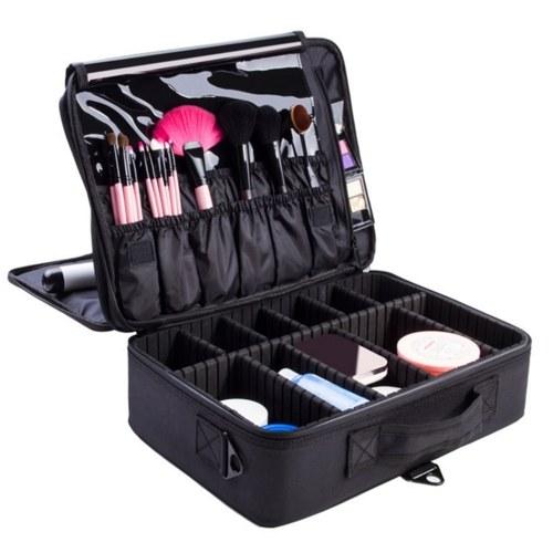 Caso portátil dos cosméticos do organizador da composição das mulheres