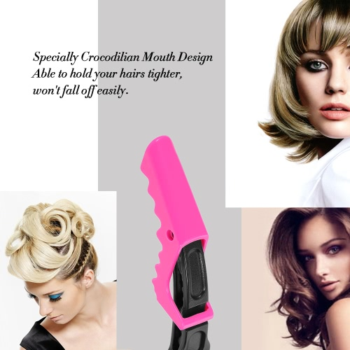 Croc Hairdressing Cutting Clamps Hair Sectioning Grip Clips Hair Grip Clips Salon Styling 10Pcs Rosy