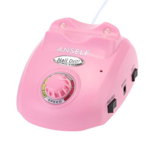 Anself Electric Nail Drill File Machine Nail Art Salon Manicur Pedicure Kit Nail Art Tool Nail Nursing Kit Hands and Feet Nail Care with Emery Rods and Sand Bits US Plug