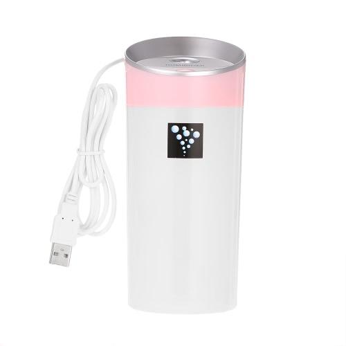 USB-Anionen-Luftbefeuchter Aromatherapie Aroma Diffuser 300ml Kapazität Cup 2 Nebel-Modi für Essential Oil für Büro-Auto-Home-Use-Rosa