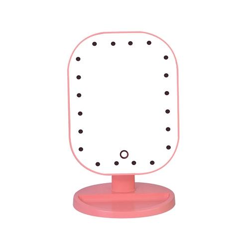 Art und Weise der Qualitäts-20 LED-Licht-Dame-Girl Beauty Cosmetic Platz Vanity Desk Stand Make-up-Spiegel ABS Touch Screen