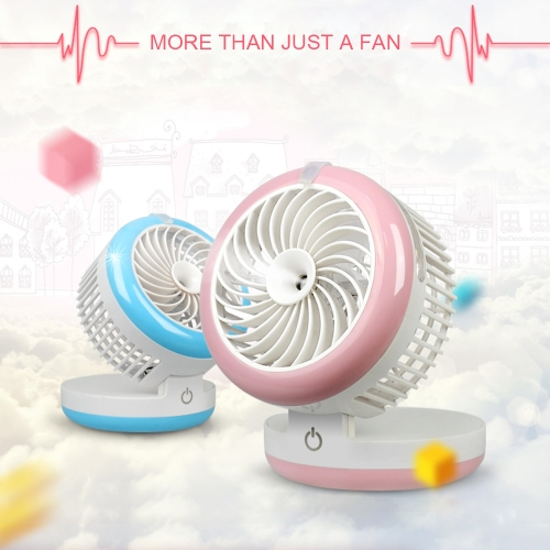 Anself Mini Table Cooling Misting Fan, 2 Speed USB Charging Humidifier Water Sprayer for Home Pink