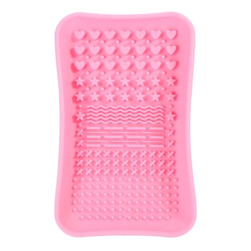 Anselfシリコーン化粧ブラシクリーナーパッドメイクブラシクリーニングマットブラシ洗浄スクラバーピンク洗濯ツール