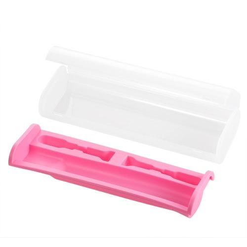 1pc escova de dentes elétrica Caso Escova Viagem Caixa de armazenamento Escova Proteja Caminhadas Camping Escova caixa rosa