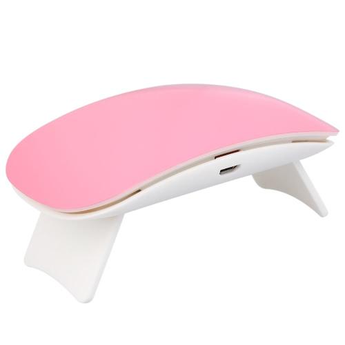 UV Portable 9W LED Nail Lamp Mini Nail Gel Secador USB Cable Nail Glue Secador Pink