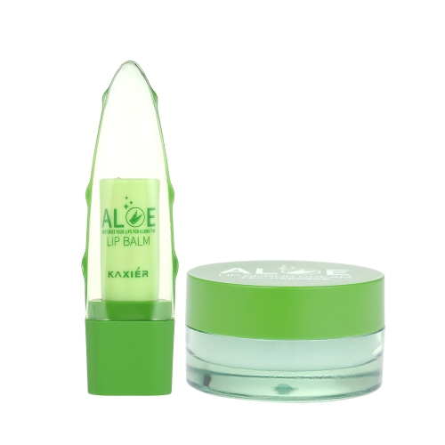 Kaxier 1pc Lip Balm Moisturizer with Exfoliator Cream Lipstick Makeup Natural Plant Aole Lips Care