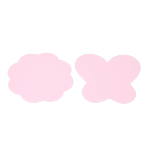 2Pcs Silicone Paint Palette Mat Dobrável Lavável Borboleta Plum Blossom Nail Art Stamping Pad Professional Manicure DIY Tools