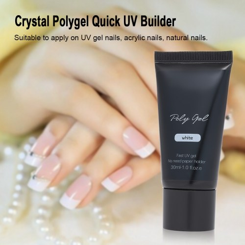 Crystal Polygel Transparent Clear Quick UV Builder Nail Extend Glue Painless Manicure Poly Gel