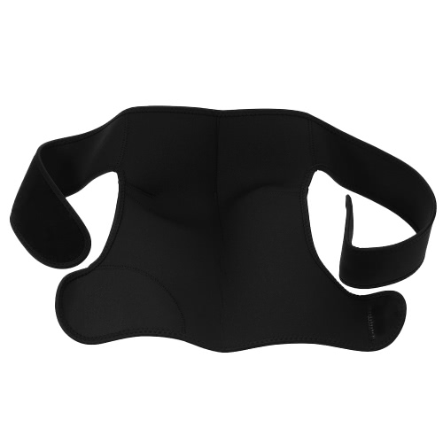 Shoulder Brace Support Straps Band Adjustable Neoprene Sports Single Shoulder Protector for Pain Injury Black for Men & Women