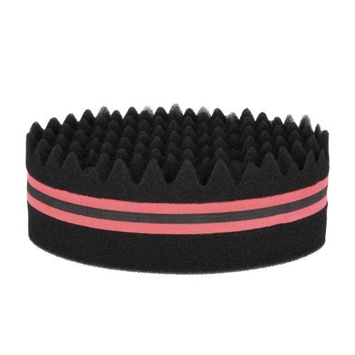 1Pc Oval Pinsel für Afros Dreadlocks Curl Coil Wave Doppelseitiges Haar Twist Schwamm Magic Hair Braider 4 Optionale Farben