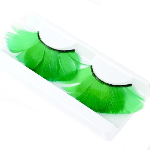 1 пара моды перо ложные ресницы набор ручной подделка для глаз глаз расширение