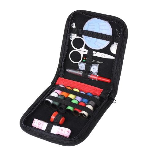 Kit de herramientas de coser Hilo de tijera Botones Botón de cinta Thimble Needle Threader Home Travel Emergencies