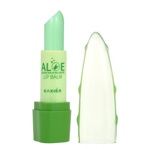 Kaxier 1 stück Lip Balm Feuchtigkeitscreme mit Peeling Creme Temperatur Farbwechsel Reviver Lippenstift Make-Up Natürliche Pflanze Aole Lippen Pflege