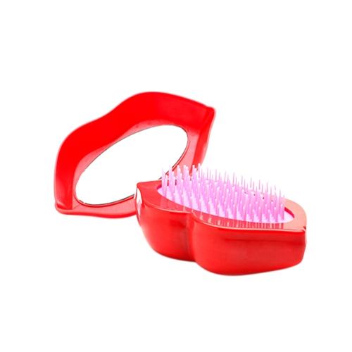 Haarbürste Professionelle Haarbürste Paddle Detangler Haarbürsten Massage Lippen Kamm Pflege