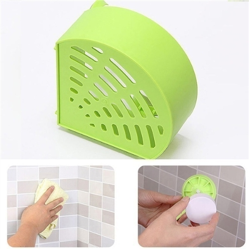 Plastic Suction Cup Bathroom Kitchen Corner Storage Rack Organizer Shower Shelf Random Holes