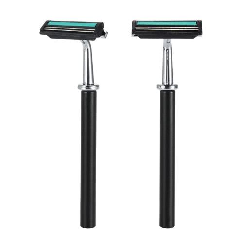 4 In 1 Men's Shaving Razor Set Dry & Wet Male Black Facial Cleaning Tool Shaving Holder + Razor + Soap Bowl + Badger Brush W1668S