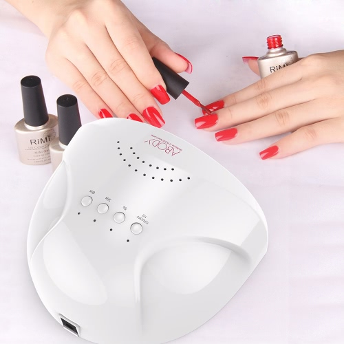 Abody SUNone 48W - 24W Nail Dryer, LED UV Lamp Gel Nail Polish Dryer Power Adjustable White Light Fingernail & Toenail Gel Curing Nail Art Painting Salon Tools